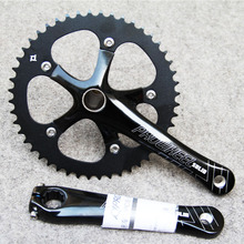 Prowheel Solid 48T Single Speed Fixed Gear Bike Crankset 170mm Bearing 130 BCD Bicycle Crank Chainwheel shimano fc m4050 t4060 alivio 3x9s speed mtb bicycle crankset 170mm include bb52