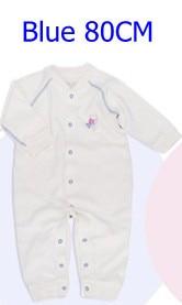 Комбинезоны для маленьких мальчиков и девочек, коллекция года, Одежда для новорожденных и малышей, детский хлопковый комбинезон с длинными рукавами, Красивый хлопковый комбинезон унисекс - Цвет: 80CM BLUE
