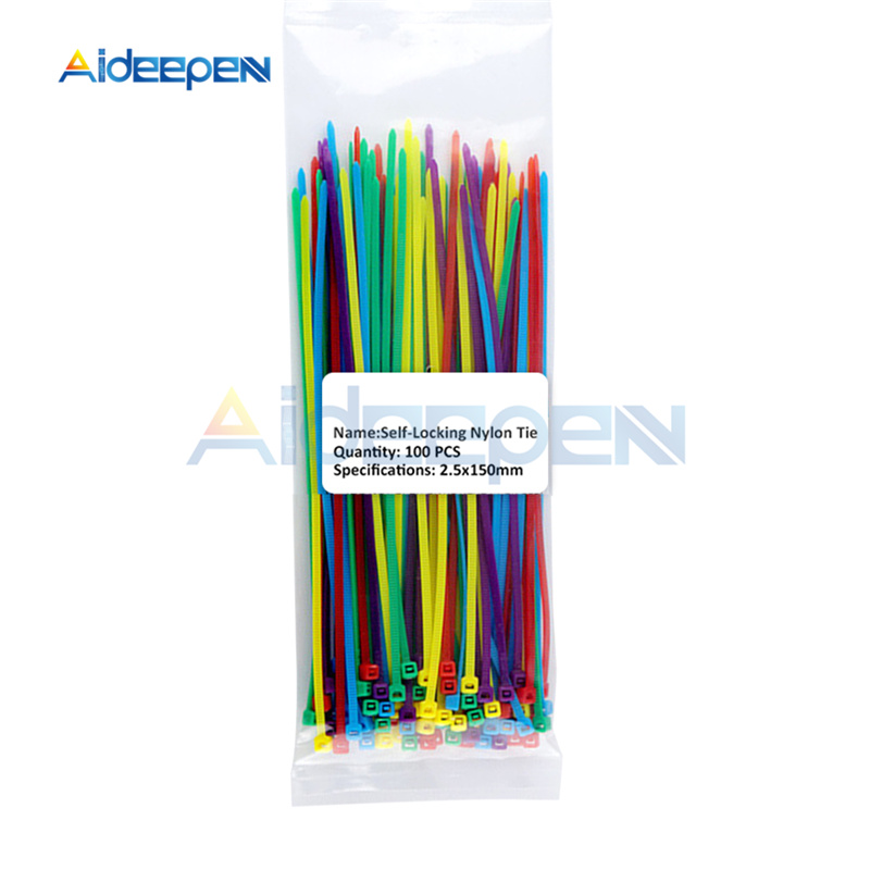 500pcs nylon cable ties 2.5*200mm self-locking cords straps stable high quality