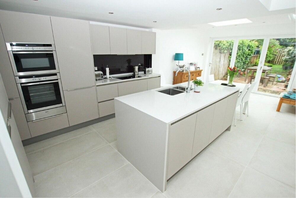 2017 высокое качество Современная Глянцевая белая Лаковая кухонная мебель новый дизайн Настраиваемый Модуль кухонные шкафы L1606023