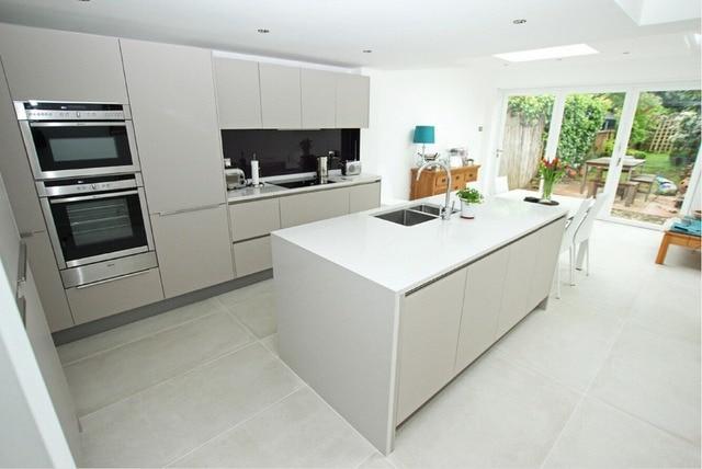 2017 haut quanlity moderne à haute brillance blanc laque cuisine ...