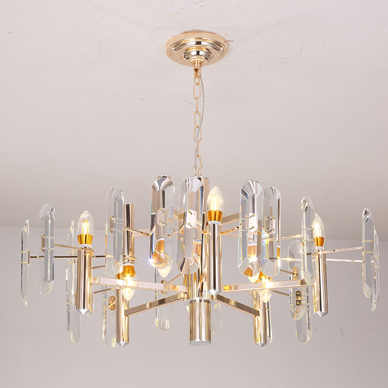 Modern LED Chandeliers Lamparas Cristal Luxury Chandelier LED Ceiling Chandelier Lighting Fixture for Living Room Bedroom