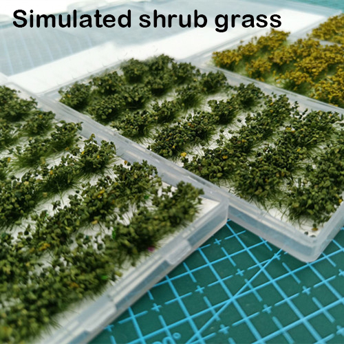 Bush Grass Simulation Scenario Model Landscape Sand Table Materials DIY Handmade Model Scene Platform Scale Model Toy