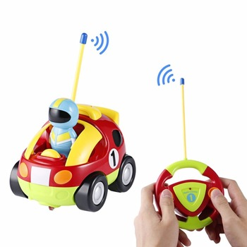Mini Cartoon Astronaut Remote Control Race Car With Music & Light Educational Radio-Controlled rc Car Toys For Boys Baby Gift radio-controlled car