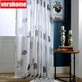 Тюль с листом лотоса  прозрачные Занавески для гостиной  спальни  зеленая вуаль  занавески  занавески с окнами  панель