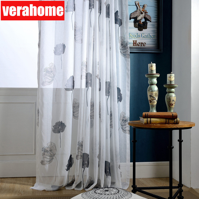 Lotus Leaf Tulle Curtains Sheer For Living Room Bedroom Green  Voile Curtain Drapes Windows Panel