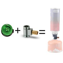 NEW Outdoor Camping Stove Valve Gas Convertor Shifter Refill Adapter Air Vent + Gas Cartridge Head Cooker Gas Stove Adapter apg conversion adapter camping gas stove adaptor valve canister gas convertor shifter refill