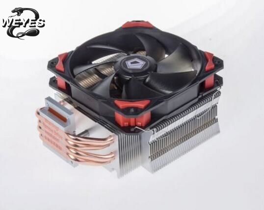 4pin PWM 120mm ID-Cooling SE-214 CPU cooler fan 4 heatpipe cooling for LGA1151 775 FM2+ FM2 FM1 AM3+ CPU Radiator free shipping 120mm 4pin neon led light cpu cooling fan 3 heatpipe cooler aluminum heat sink radiator for inter amd pc computer