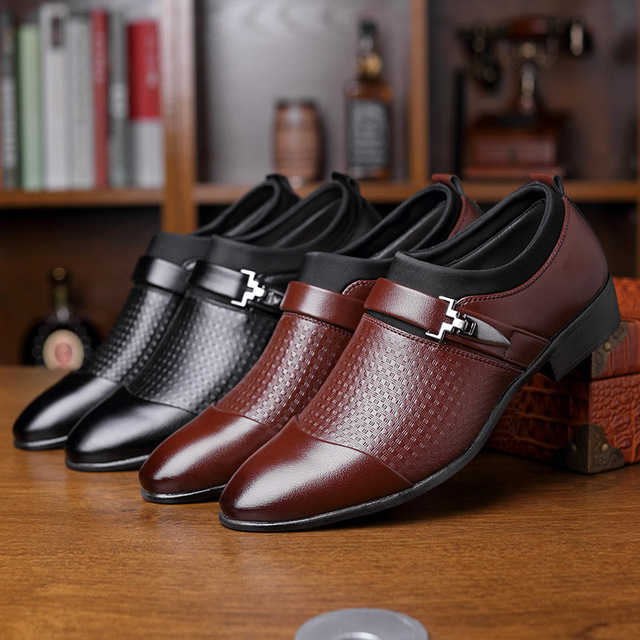 Leather Oxford Shoes For Men Dress Shoes Business 2