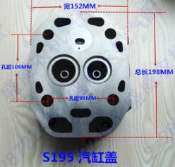 Fast Shipping Diesel Engine S195 Direct injection cylinder head and head gasket suit for Changchai Water Cooled 6162 63 1015 sa6d170e 6d170 engine water pump for komatsu