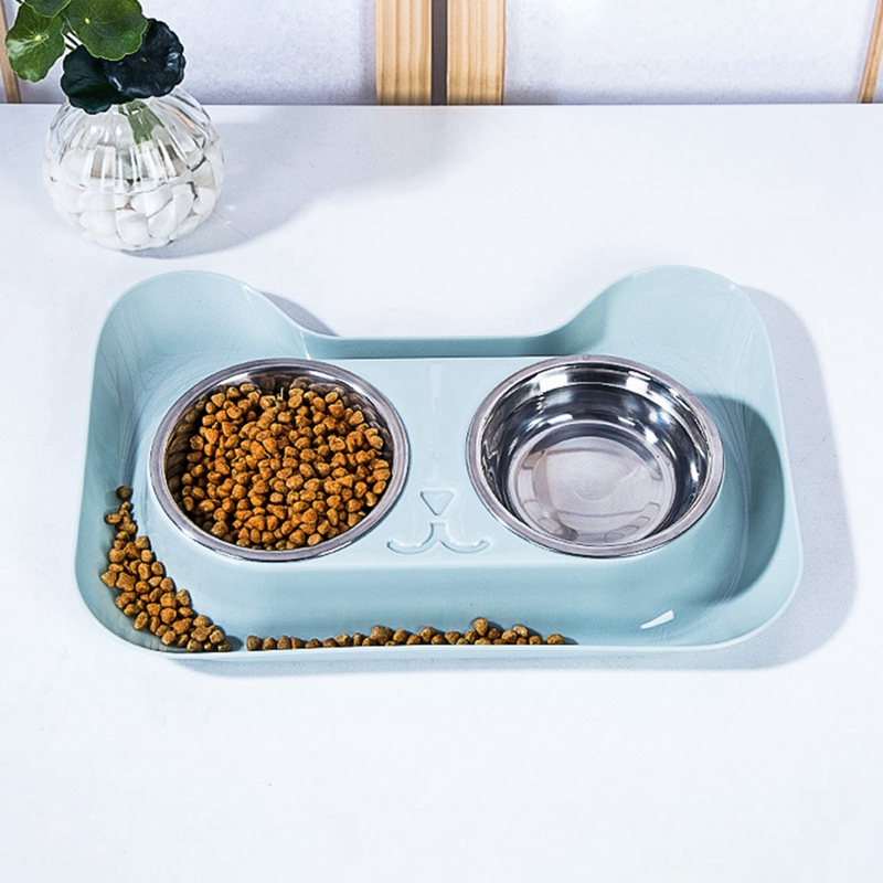 pretend food /& water on mat Dollhouse Miniatures  Handcrafted cat food dish set