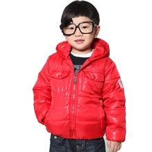 XIAOYOUYU Taille 100-120 Petit Garçon Veste D'hiver Avec du Coton-Rembourré À Capuchon Col Enfants Manteau Top Qualité Épaissir enfants Outwear