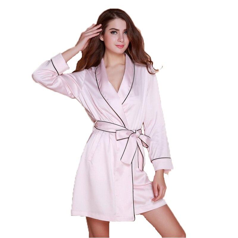 New Arrival Womens Silk Sleep & Lounge Lingerie Temptation Classic Nightgown Kimono Sleepwear Robe Gown With Belt SZ M L XL XXL