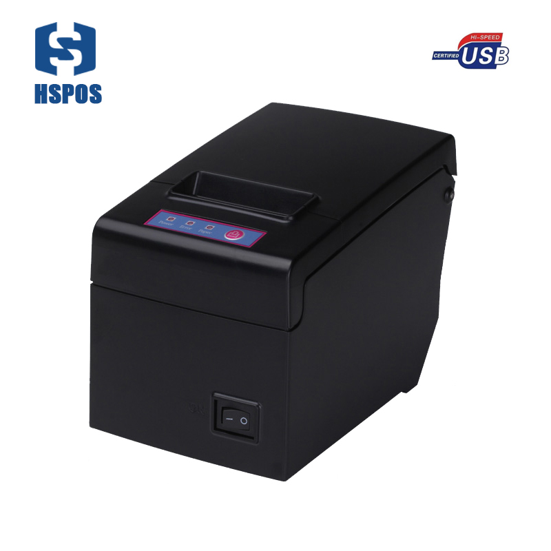 HSPOS Pos receipt printer 58mm usb port E58U use direct thermal paper printing for supermarket high speed quality machine quality pos 58mm thermal receipt printer usb port with auto cutter small ticket printer high speed printing for supermarket
