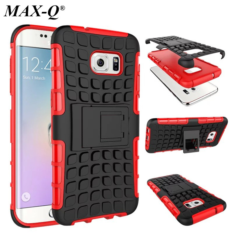 S7 Edge Case Cover MAX-Q Armor Hybrid Kickstand Shockproof Back Cases for Samsun