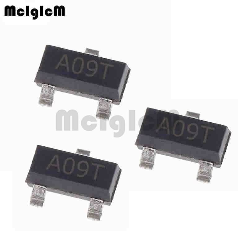 MCIGICM AO3400A 100pcs N-Channel 30V 5.7A (Ta) 1.4W (Ta)  SMD Mosfet Transistor SOT-23 Surface Mount SOT-23-3L AO3400