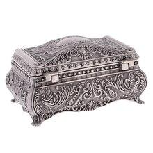 Retro Rectangle Jewelry Trinket Box