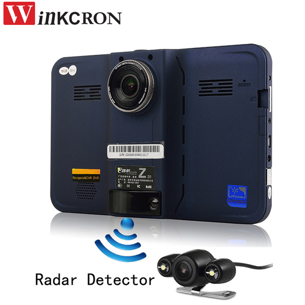 7 inch car dvr GPS Radar Detector Car Truck Vehicle Android WiFi AVIN Rearview Camera Parking DVR Camcorder Bulit in 16GB mymei car 7 0 touch android car dvr camera radar detectors parking rearview navigator