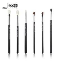Jessup Black/Silver Professional Makeup Brushes Set Make up Brush Beauty Tools kit Eye Shader Liner natural-synthetic hair