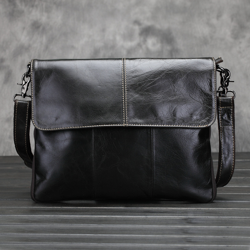 KUNDUI huile cire véritable sac en cuir hommes rétro Messenger affaires hommes porte-documents Designer sacs à main de haute qualité sacs à bandoulière