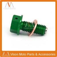 CNC Billet Magnetische Olieaftapplug Bolt Voor KAWASAKI KX450F 2006 2007 2008 2009 2010 2011 2012 2013 2014 2015 KLX450R 08-13