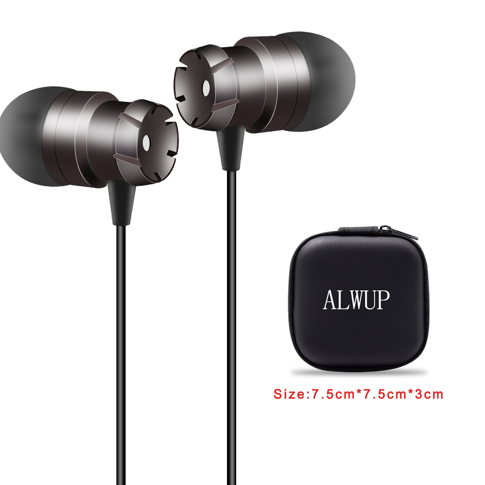 Wired Earphone For Phone With Mic 3.5mm In-ear Headphones Gear Earphones For Xiaomi MP3 Headsets 1.2m With Headphone Storage