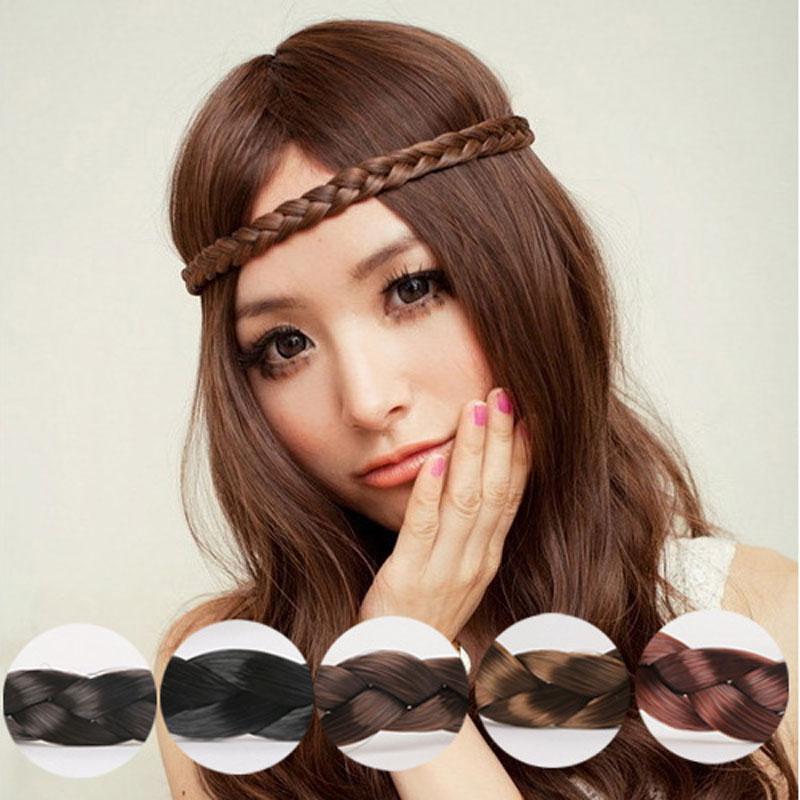 M Mism Fashion Women Headband Bohemian Style Synthetic Wig