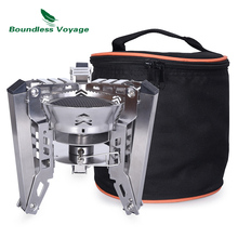 Boundless Voyage 3800W Gas Stove Folding Gas Furnace Outdoor Picnic Food Cooker Camping Cookware BV1014