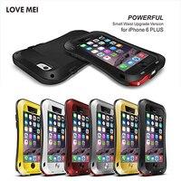 Love Mei Outdoor SPort Dustproof Waterproof Shockproof Extreme Powerful Aluminum Gorilla Glass Case For IPhone