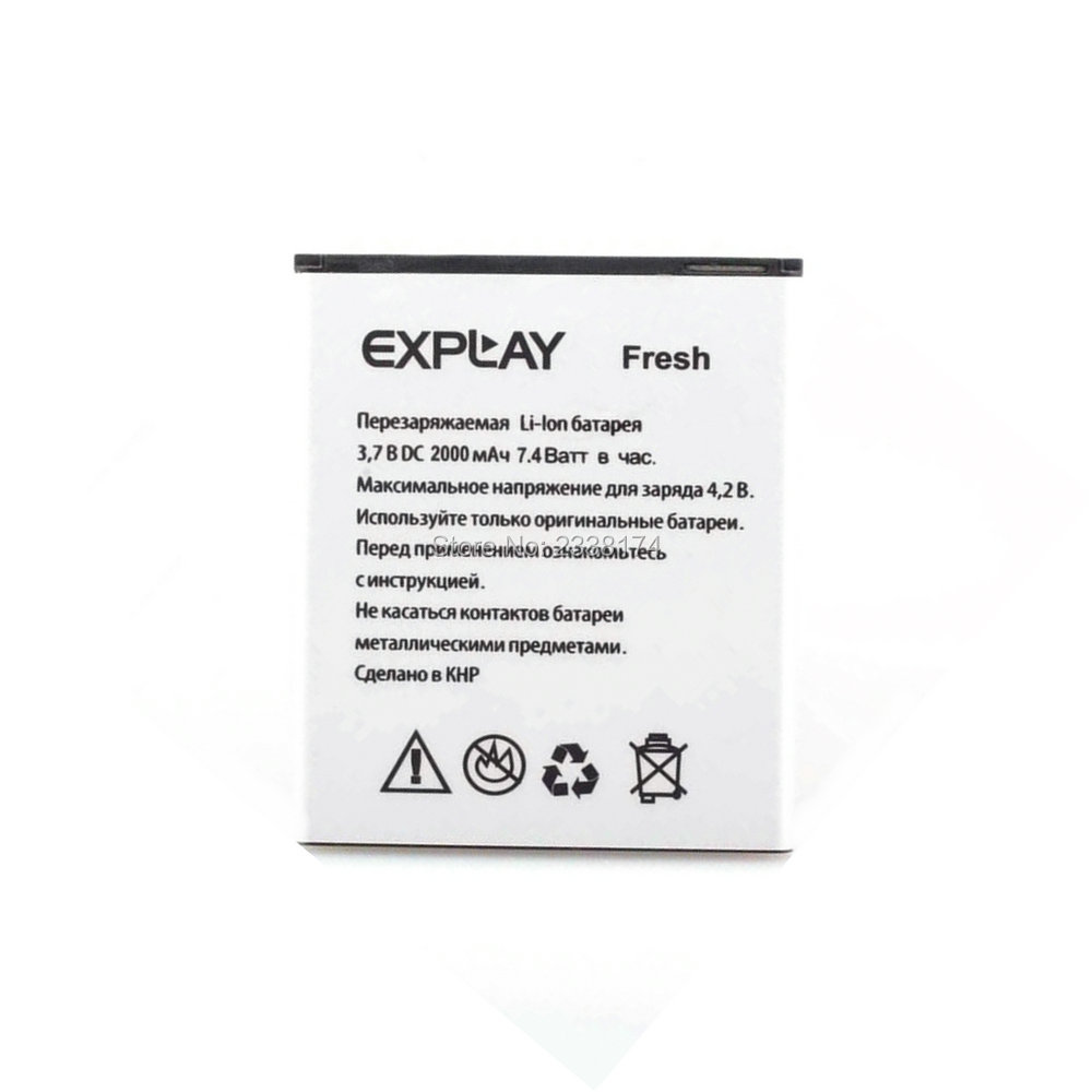 1pcs 100% high quality EXPLAY Fresh 2000mAh Battery For EXPLAY Fresh Mobile Phone Freeshipping+Tracking Code