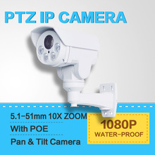 1080P(Full-HD) Outdoor Bullet PTZ ip Camera With POE,Card Slot 2.0MP 10x zoom,IR 80m Night-Vision CCTV IP Camera,SD Card Slot