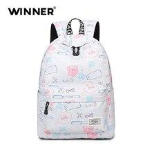 Победитель Марка Большой Ёмкость студент рюкзак школьные сумки для подростков мальчиков и девочек колледж Multi-Функция ноутбук школьные рюкзаки