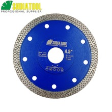 SHDIATOOL 1pc Hot-pressed Sintered Diamond Cutting Disc X Mesh Turbo Rim Segment Circular Saw Blade Dia 4