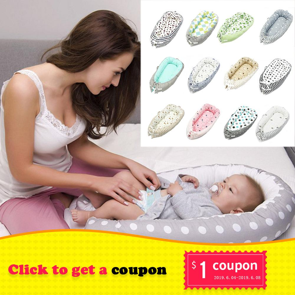 Baby Nest Bed Crib Portable Removable And Washable Crib Travel Bed For Children Infant Kids Cotton Cradle For Newborn Bumper