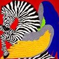 100% Bufanda de Seda Bufanda de Las Mujeres de Cebra Bufanda Pañuelo Pañuelo De Seda 2017 Caballo Pequeño Cuadrado de Seda Foulard Bufanda Caliente de la Señora de Lujo regalo