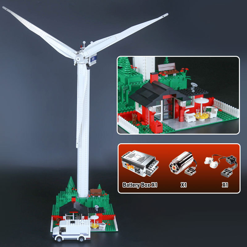 Lepin 37001 Creative Series The Vestas Windmill Turbine Set Children Educational Building Blocks Bricks Toys Model Gifts 4999 lepin 37001 creative series the vestas windmill turbine set children educational building blocks bricks toys model for gift 4999