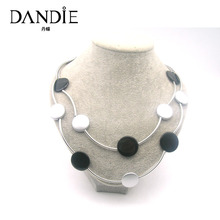 Dandie Trendy  Personality Black And White Necklace, Daily Wear Simple Style Jewelry