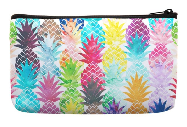 5d24b9ccb Watercolor Pop Art Hawaiian Pineapple Pattern Tropical Summer Style Print  Customized Small Cosmetic Bag Wristlet Makeup Bags