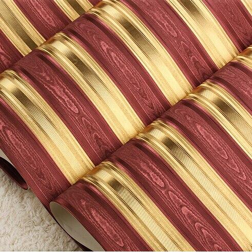 Gold Streifen Tapete-kaufen Billiggold Streifen Tapete Partien Aus ... Wohnzimmer Rot Gold