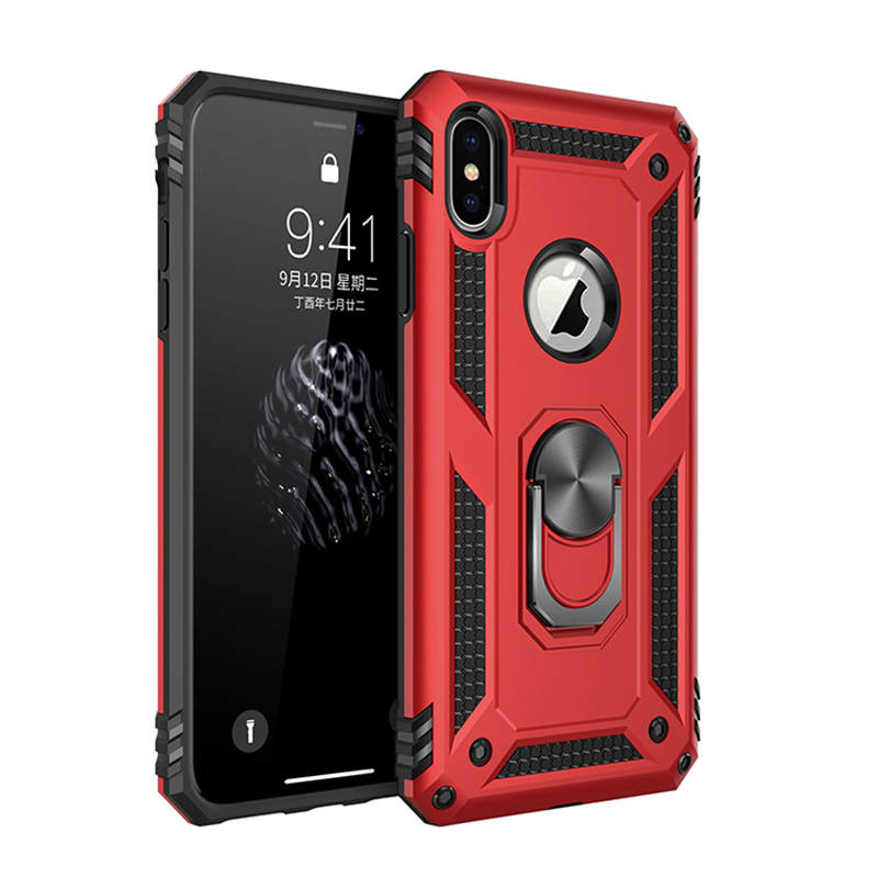Luxury <font><b>Magnetic</b></font> Ring <font><b>Case</b></font> For <font><b>iphone</b></font> XS Max Rugged Armor Shockproof Stand Hard Cover For <font><b>iPhone</b></font> 11 Pro 6 6S 7 <font><b>8</b></font> Plus X XR Coque image