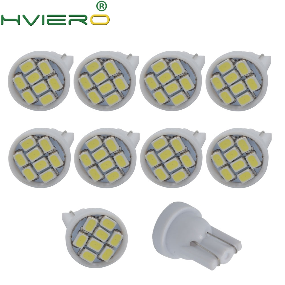 high quality Led 10X  8 smd 1206 8leds 8SMD Auto Interior Light 194 168 192 W5W 3020 Auto Wedge Lighting DC 12V Hot sale-in LED Bulbs & Tubes from Lights & Lighting