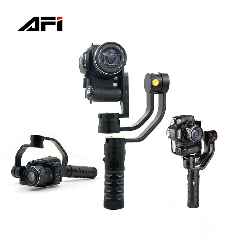 Tripod Camera Stand Monopod Professional Handheld Triaxial Stabilizer SLR Double Screen Cameras Black Aluminum Single Hangdgrip