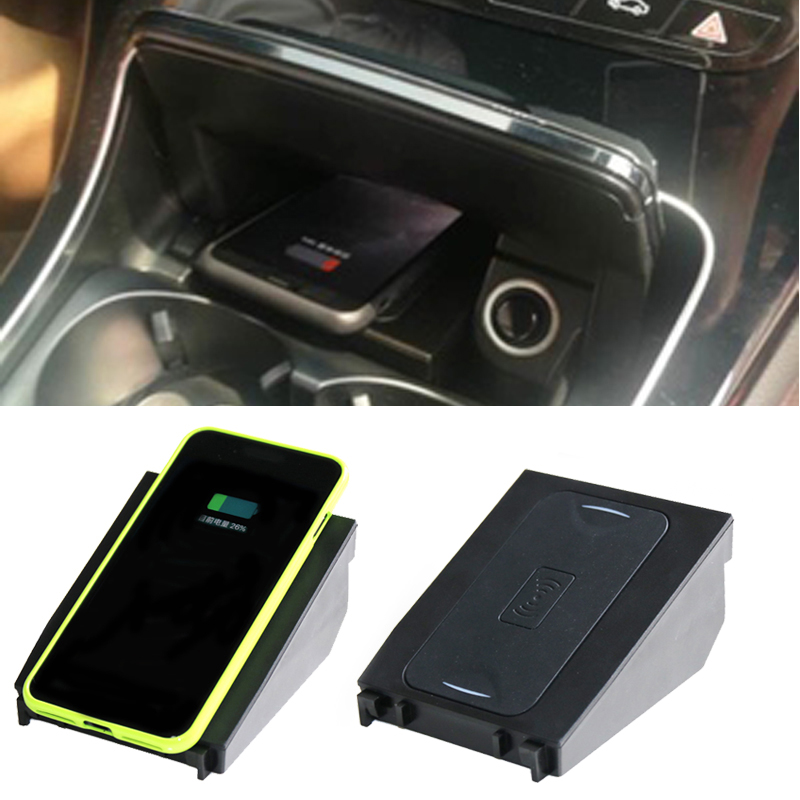 For Mercedes Benz W205 C180 C200 GLC C Class car QI wireless charging phone charger 10W fast charging case for iPhone 8 X XS