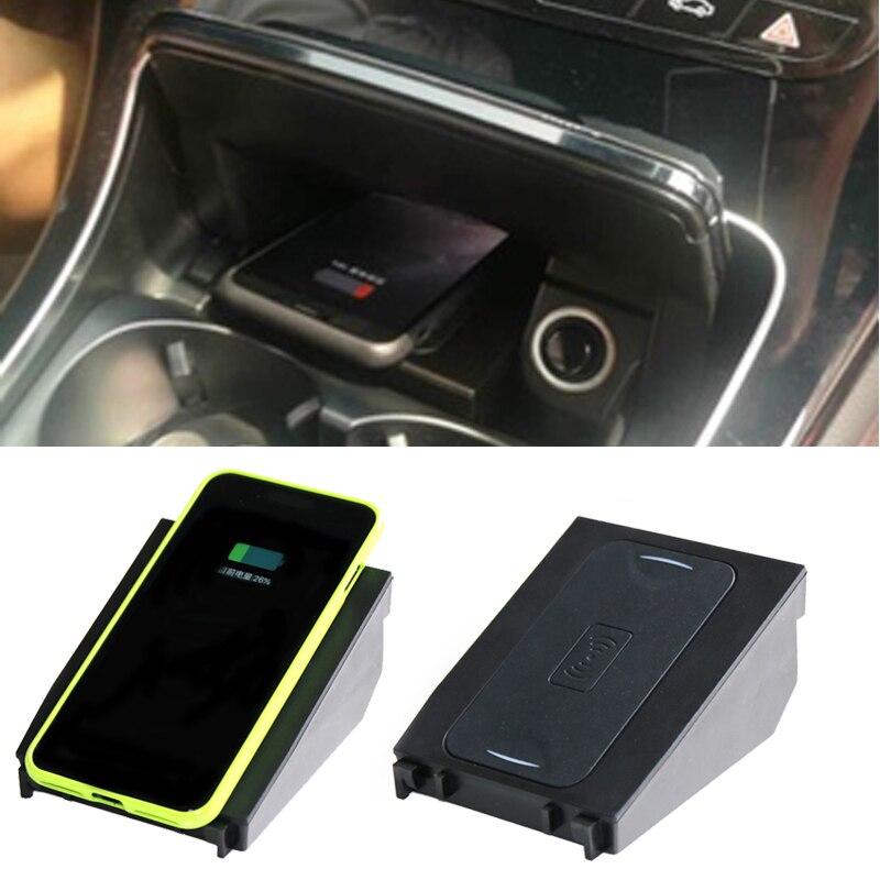 Para Mercedes Benz W205 C180 C200 GLC Classe C QI de carregamento sem fio do carregador do telefone do carro 10 W caso de carregamento rápido para o iphone 8 X XS
