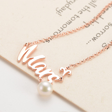 gNpearl Galaxy Pearl Pendant  Necklace Romantic 925 Sterling Silver Natural Fishion Jewelry For Women Present