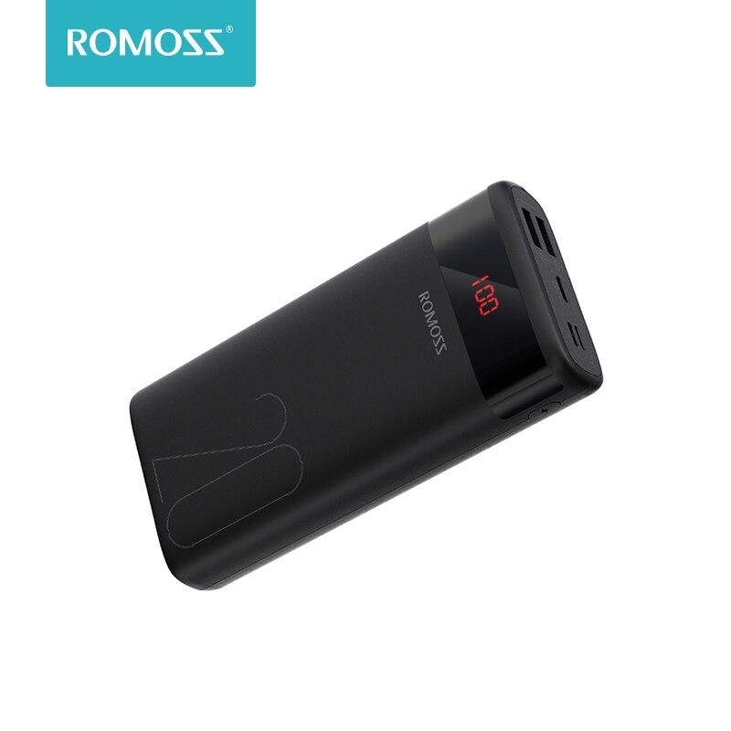 ROMOSS Ares 20 20000mAh banco de energía USB tipo cargador portátil batería externa 5V 2.1A con pantalla LED para los teléfonos Tablet