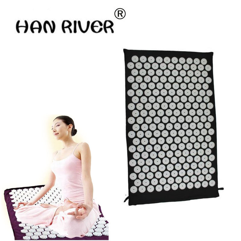 HANRIVER High quality Massager cushion for shakti acupressure acupuncture mat yoga mata 43*73cm/Piece hot selling hot sale foot massager mat for shakti