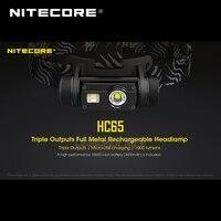Comparar Oro ganador 2019 ISPO Premio Nitecore HC65 CREE XML2 U2 LED 1000 lúmenes Triple salida recargable