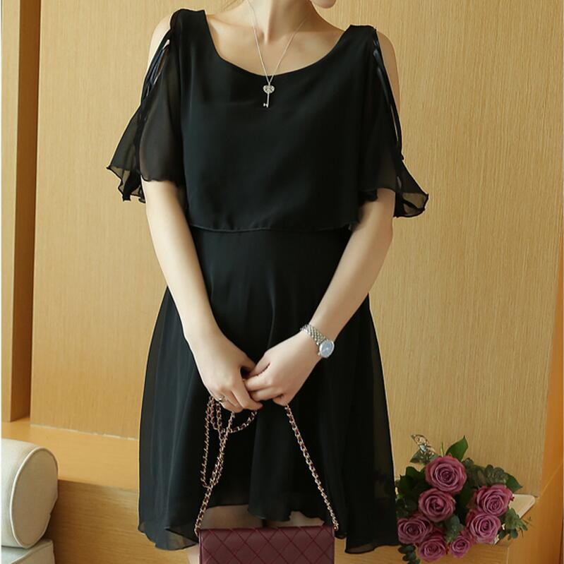new summer clothing maternity clothing maternity dresses pregnancy dresses chiffon womens dresses classic black 16440