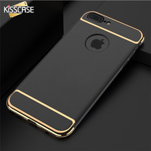 KISSCASE Luxury Case For iPhone 7 6 6s Plus 5 5s SE Gold Plating Ultra Thin Phone Case For Samsung S8 S7 S6 Edge Xiaomi 5s 4 Pro